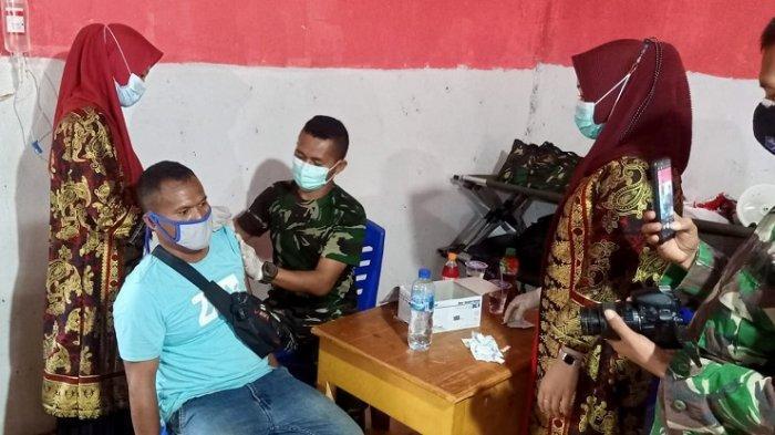 Cara TNI-AD Lindungi Warga Konawe Utara dari Penularan Covid-19, Gelar Vaksinasi Usai Latihan Tempur