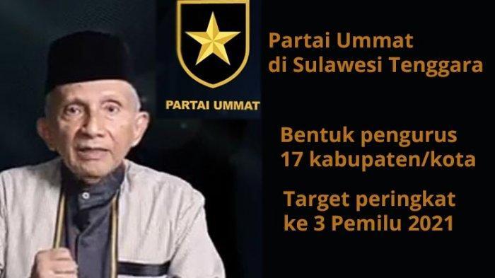 4 Fakta Partai Ummat Amien Rais di Sultra, Nama Ketua DPW, 17 Pengurus Daerah, Target & Dukungan