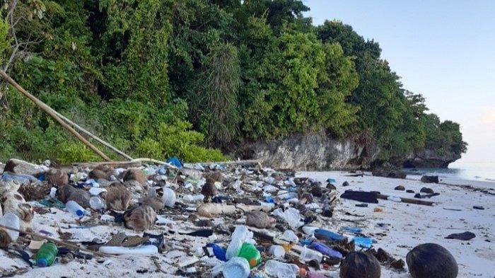Hardiknas 2021, Komunitas Pencinta Alam Pulau Tomia Wakatobi Bersihkan Sampah Plastik di Pantai