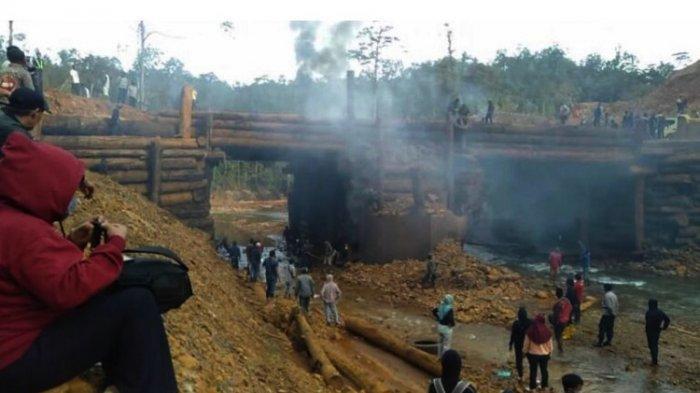 Demonstran Pembakar Jembatan di Konawe Utara dan PT Tiran Indonesia Saling Memaafkan