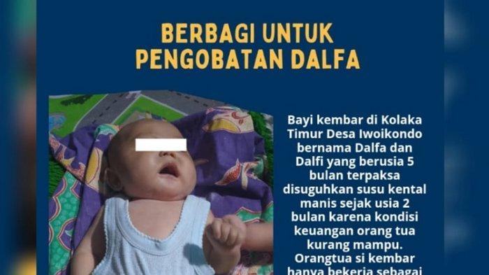 MEMPRIHATINKAN Bayi di Kolaka Timur Ini Alami Pembengkakan Usus hingga Kulit Membengkak