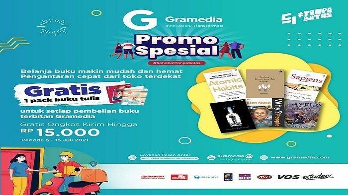Dapatkan Gratis Ongkir Rp15 ribu Tiap Pembelian Buku Terbitan Gramedia di Kendari