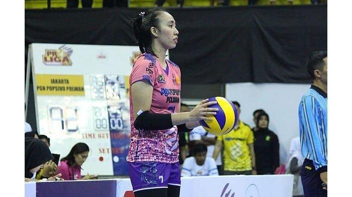 Kapten Timnas Voli Putri Indonesia Amalia Fajrina yang merupakan salah satu mantan rekan Aprilia Manganang di tim voli putri.