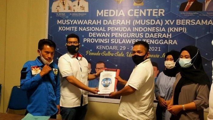 Kursi Anak Gubernur Digoyang, Alvin Ketua KNPI Sultra Pilih Sekretaris, Loyalis Tak Masuk Pengurus