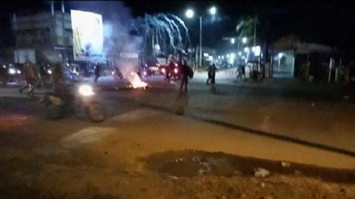 Polisi Bubarkan Demonstran di Kota Kendari Sampai Jam 10 Malam, Kejar-kejaran dengan Mahasiswa