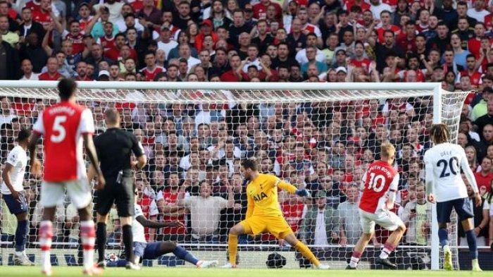 Liga Inggris Tadi Malam: Arsenal Menang Telak dari Tottenham, Bukayo Saka Raja Derbi London Utara