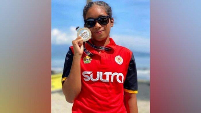 Atlet Triathlon Aurilie Dhea Meisy Sumbang Medali Pertama PON Papua 2021 untuk Sulawesi Tenggara