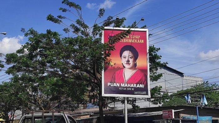 Baliho Puan Maharani di Kota Kendari