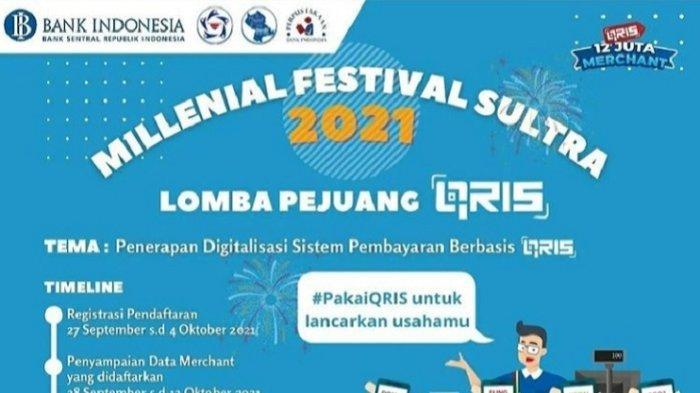 Bank Indonesia Sultra Gelar Millenial Festival Sultra 2021, Siap Hadiah Jutaan Rupiah, Link Daftar