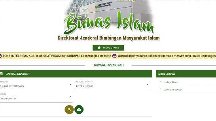 Cek Disini Jadwal Imsakiyah Kota Kendari 21 April 2021, Puasa Ramadan 1442 Hijriah Hari ke-9