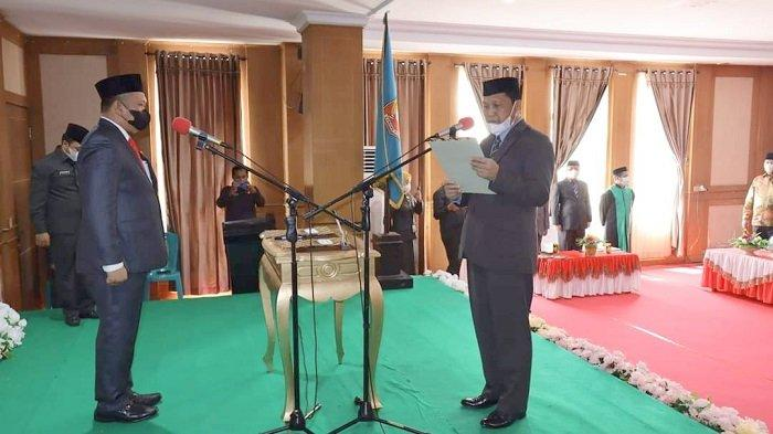 Bupati Konawe Utara Ruksamin Lantik Kasim Pagala Sebagai Sekretaris Daerah Definitif