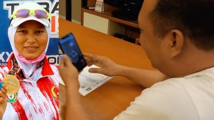 Bupati Ruksamin Video Call Julianti Atlet Peraih 2 Medali Emas PON Papua 2021 Asal Konawe Utara