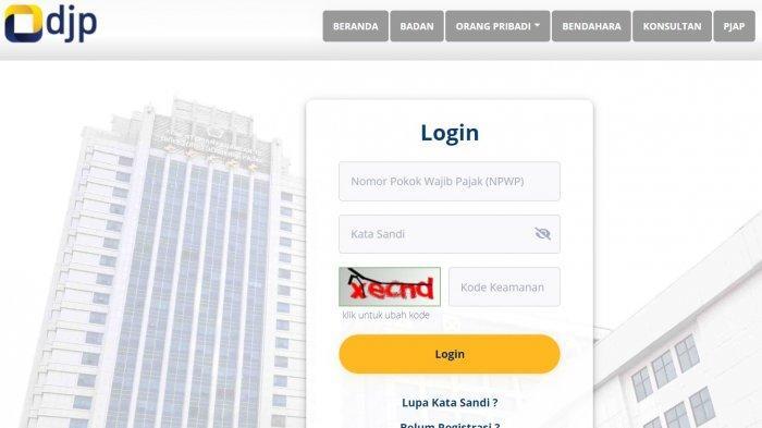 LENGKAP Cara Mengisi SPT Tahunan Online 2021, Login djponline.pajak.go.id hingga 31 Maret 2021