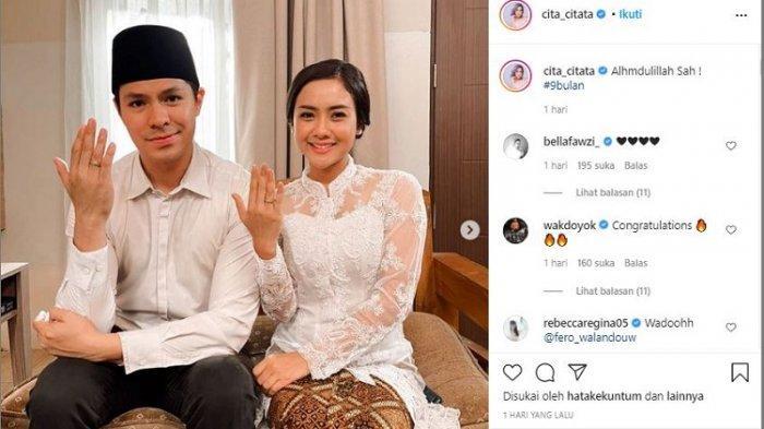 Cita Citata Unggah Foto Pernikahan dengan Fero Walandouw, Netizen Heboh Ucapkan Selamat, Ternyata?