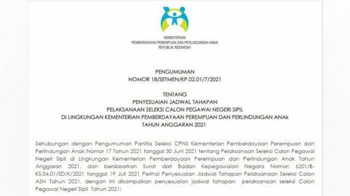 CPNS Kementerian PPPA 2021 Buka Penerimaan 22 Formasi, Kualifikasi Pendidikan Minimal Lulusan D-III