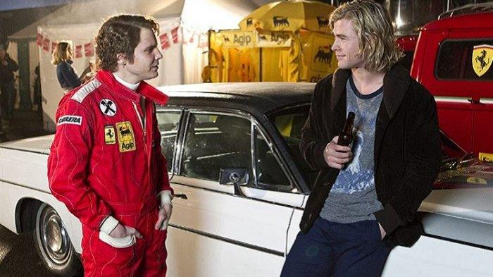 Sinopsis Film Rush, Dibintangi Chris Hemsworth, Kisah Nyata Persaingan Pembalap Formula One