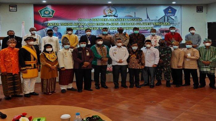 Tokoh Agama dan Tokoh Etnis di Kota Kendari Deklarasi Kebangsaan, Wali Kota Sebut Miniatur Indonesia