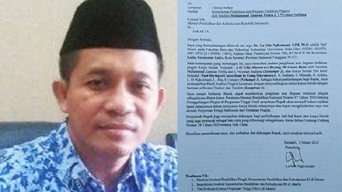 Pelapor Kasus Plagiat Prof Muhammad Zamrun Sebut Tidak Punya Kepentingan dengan Pilrek UHO
