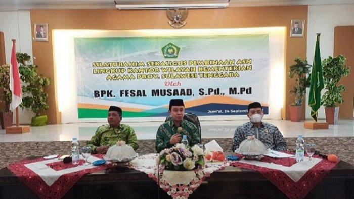 Fesal Musaad Ingatkan ASN Kemenag Sulawesi Tenggara Jaga Kebersamaan, Loyalitas, dan Sikap