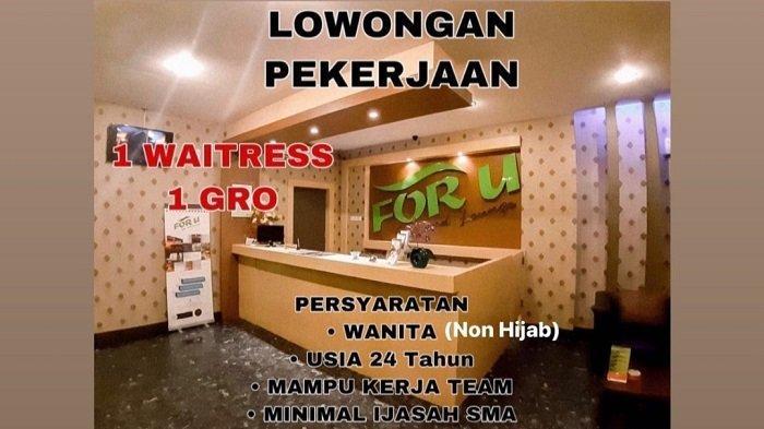 Lowongan Kerja Kendari, For U Spa and Lounge Buka Rekrutmen Waitress dan GRO, Ini Syaratnya