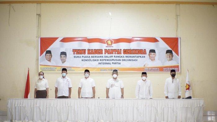 Pengurus DPD Partai Gerindra Sultra saat acara Konsolidasi bersama para Kader Partai.