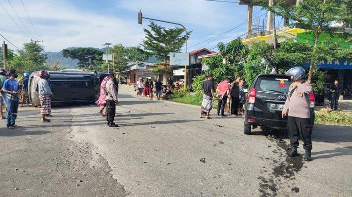 Kronologis Tabrakan Mobil hingga Terguling di Lasusua Kolaka Utara, Polisi Sebut Tak Ada Korban Jiwa