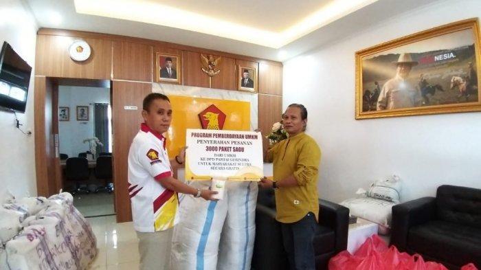 Berdayakan Sagu Dari UMKM, Gerindra Sultra Bakal Bagikan 3000 Paket Sagu ke Masyarakat Secara Gratis