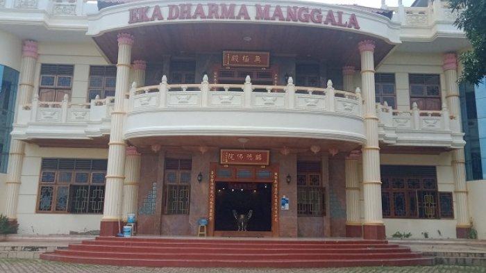 Weeked di Vihara Eka Dharma Manggala Kendari Bisa Nikmati Panorama Teluk dari Ketinggian