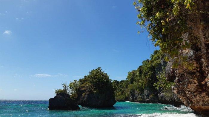 Tadu Sangia Dete, Wakatobi yang berlokasi di Desa Dete Kecamatan Tomia timur Kabupaten Wakatobi, Sultra, menjadi pilihan menikmati weekend, Minggu (20/6/2021).