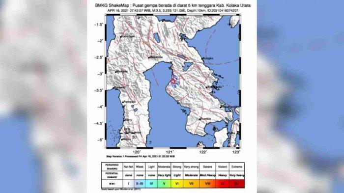 Pagi-pagi Gempa Bumi Guncang Pakue Kolaka Utara, Berikut Penjelasan BMKG Kendari