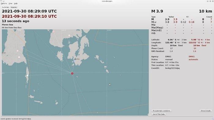Gempa Bumi di Siompu Barat Buton Selatan Dipicu Aktivitas Sesar Lokal, Tidak Berpotensi Tsunami