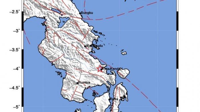 BMKG Gempa Terkini Kendari 2,7 SR Pagi Ini, Guncang Wilayah Baruga di Sulawesi Tenggara