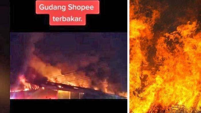 Nasib barang pelanggan setelah Gudang Shopee terbakar, penampakan kebakaran pada Rabu (6/10/2021) tersebut viral di media sosial (medsos).