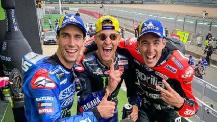Hasil Klasemen MotoGP 2021, Quartararo Raih 65 Poin Usai Juara MotoGP Inggris, Marquez 15, Rossi 21