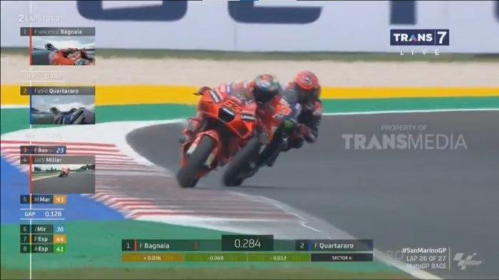 Hasil dan Klasemen MotoGP 2021, Bagnania Juara 1 di San Marino, Quartararo 2, Marquez 4, Rossi 17
