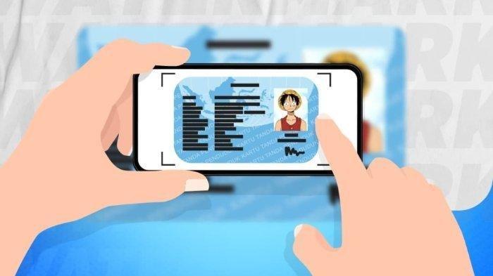 ilustrasi unggah KTP untuk verifikasi data di internet