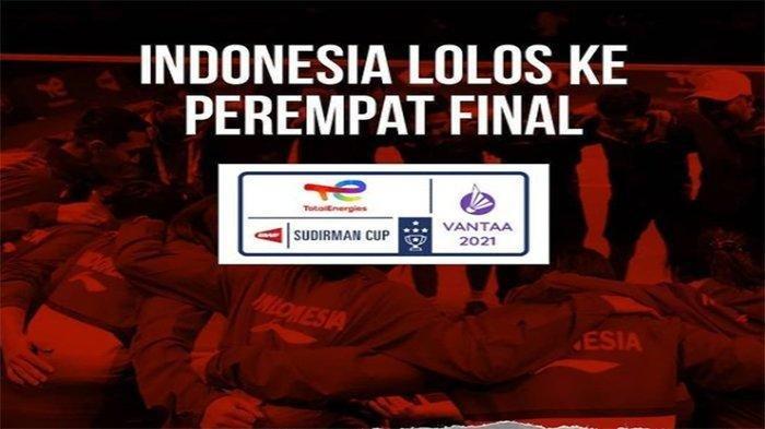 Perempat Final Sudirman Cup 2021, Indonesia Lawan Apa? Ada Nama Malaysia, China, Jepang dan Korsel