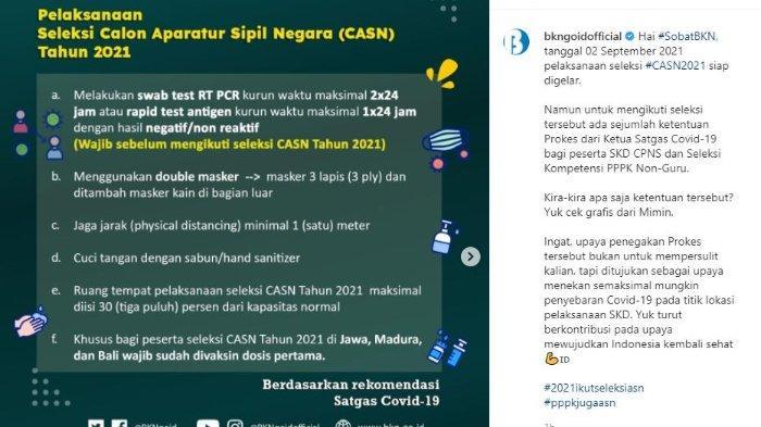 Info Pelaksanaan Seleksi CASN 2021 dari BKN