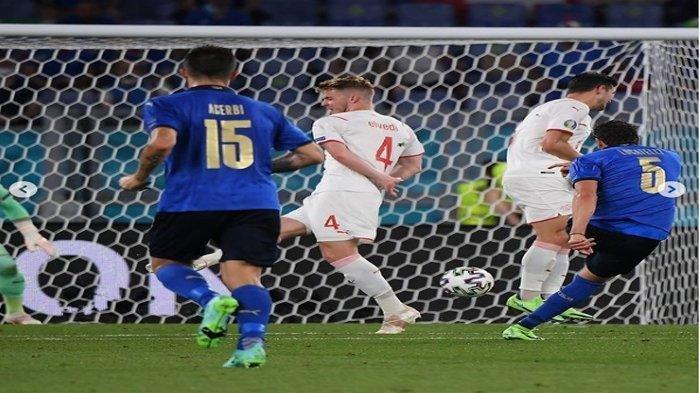 Hasil pertandingan Italia vs Swiss dalam babak penyisihan grup Piala Eropa 2020 lalu