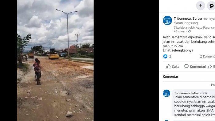 Begini Kondisi Jalan Brigjen Katamso di Kendari Sebelum Diperbaiki, Warga: Bahaya Sekali Kalau Lewat