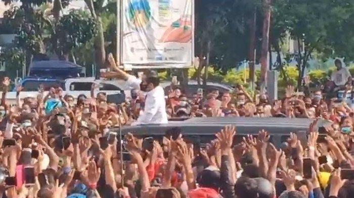 Video Kerumunan Warga Sambut Jokowi di NTT Viral, #Paspampres Trending, Netizien Kecewa