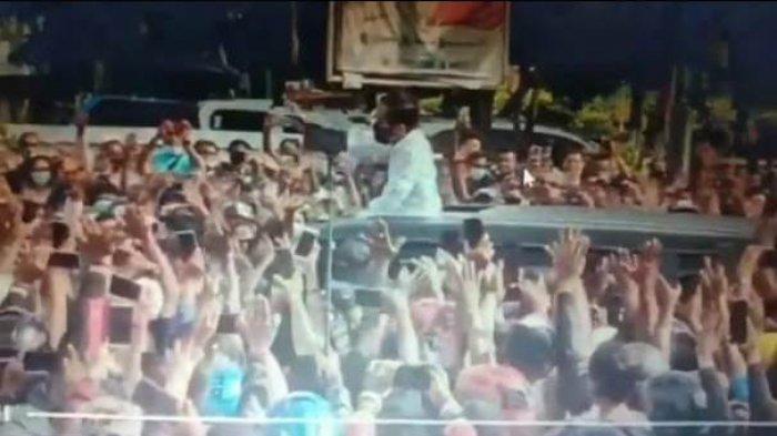 Video Jokowi Dikerumuni Warga NTT Viral, #Kerumunan Trending, Netizen Bandingakan Riziek Sihab
