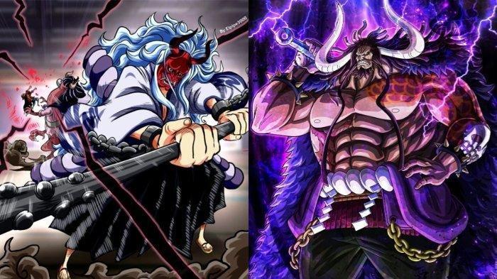 Spoiler Manga One Piece Chapter 1025, Kaido Kena Mental, Yamato dan Lutfy Menyerang Bersama