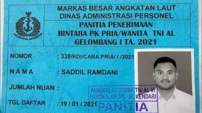 Pemain Timnas Indonesia Saddil Ramdani, Ikut Seleksi CABA TNI Angkatan Laut di Kendari