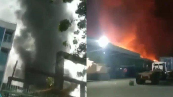 Nasib Barang Pelanggan setelah Gudang Shopee Terbakar, Penampakan Kebakaran Viral di Media Sosial