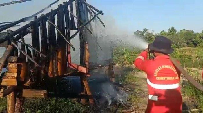 Kebakaran Lahan Perkebunan di Konawe Selatan