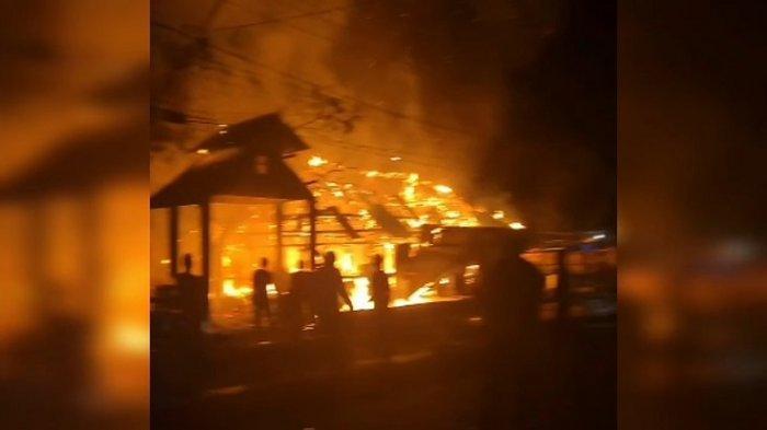 Berawal dari Dapur Terbakar karena Kompor Gas, Dua Rumah Warga Kebakaran