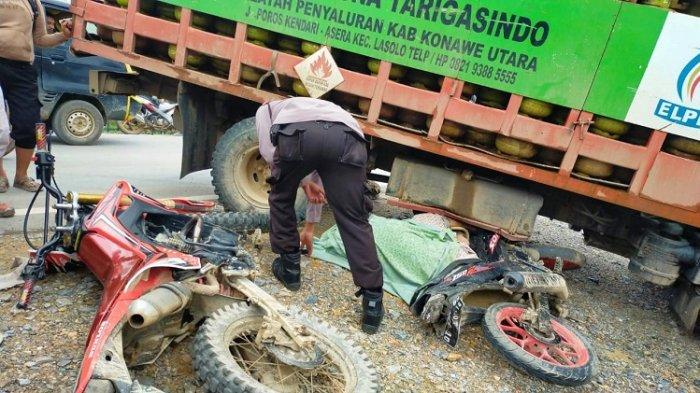 Seorang Pengendara Motor Meninggal Dunia, Setelah Alami Tabrakan Beruntun di Kabupaten Konawe