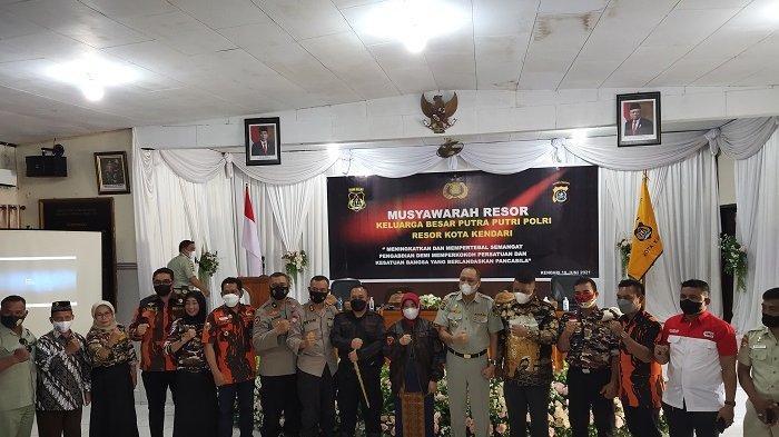 Sekda Kota Kendari Jadi Anggota Kehormatan di Musyawarah Resor, Keluarga Besar Putra-Putri Polri