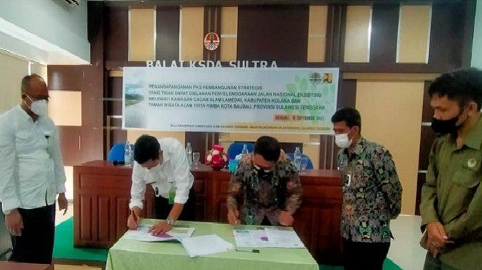 BKSDA Kerjasama BPJN Sultra, Preservasi Jalan Kawasan Wisata Tirta Rimba Baubau & Cagar Alam Lamedai